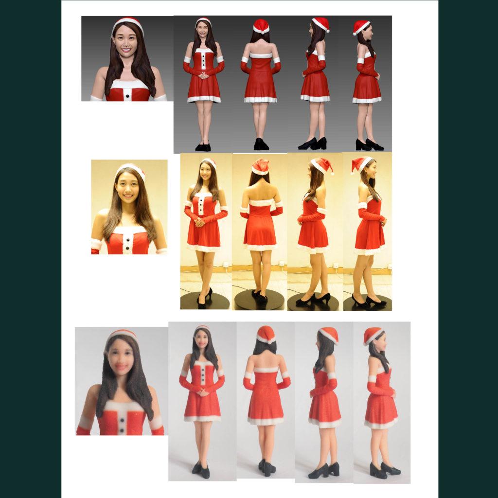 3D Scanning with Chrismas Girl and 3d print models with reduced scale. 在香港提供3D人像掃描服務,並3D打印縮小比例的模型